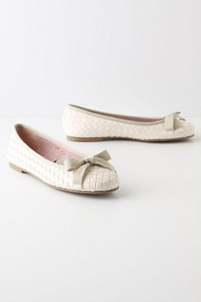 Plaited Basket Ballerinas - Anthropologie.com :  leather skimmers basket weave ballet flats