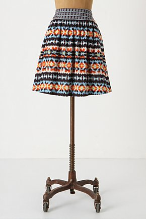 Duo-Patterned Skirt - Anthropologie.com :  patterned patchwork side pockets skirt