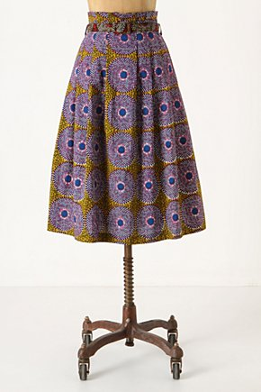 Helios Batik Midi - Anthropologie.com :  midi skirt below the knee purple batik
