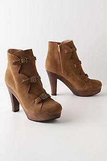 Scalloped Suede Clog Boots