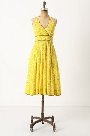 Meyer Meringue Dress - Anthropologie.com :  lemon sweet citrus side pockets
