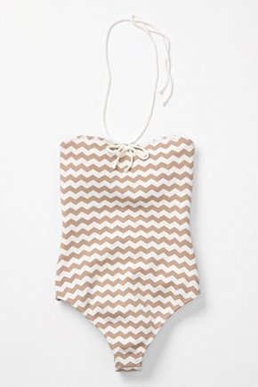 Zigzag Maillot - Anthropologie.com :  neutral crochet geometric maillot