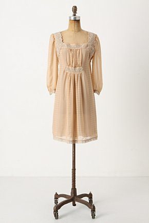 Golden Age Shift - Anthropologie.com :  shift dress neutral golden leafy