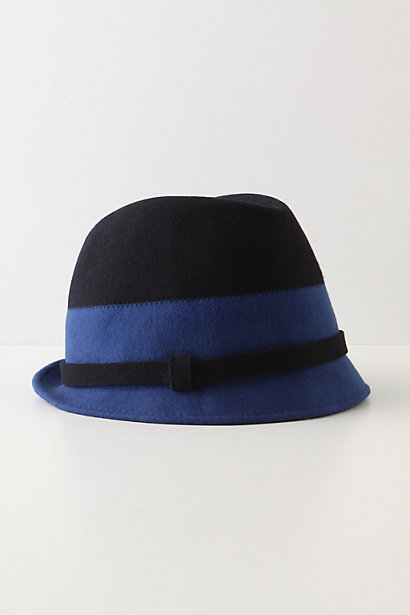 Clasped Fedora - Anthropologie.com :  wool fedora colorblock banded