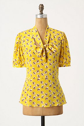 Lemon Liftoff Blouse - Anthropologie.com from anthropologie.com