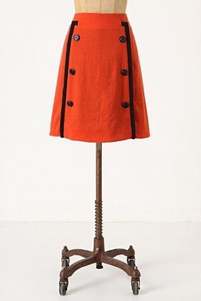 Piped Sailor Skirt - Anthropologie.com :  wool trimmed cheery nautical