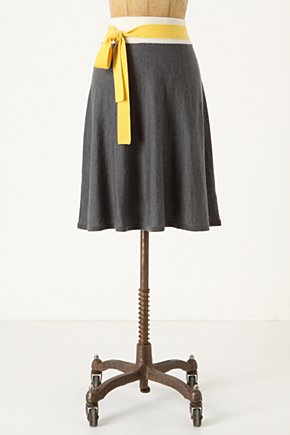 Colorblocked Sweater Skirt - Anthropologie.com :  tricolor skirt wooly waistband