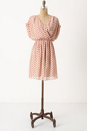 Collecting Dots Dress - Anthropologie.com :  party frock cheery sunny white and red