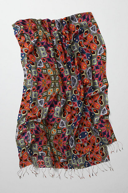 Solaris Scarf - Anthropologie.com :  patterned silk colorful scarf