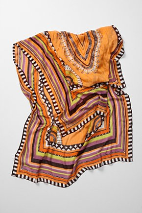 Spice Trade Scarf - Anthropologie.com :  tribal stripes colorful viscose