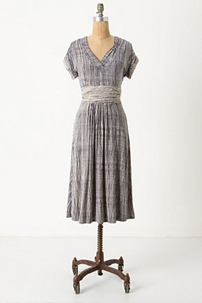 Wavering Grid Dress - Anthropologie.com :  blue and white flowy jersey summer dress