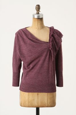 Oblique Pointelle Pullover