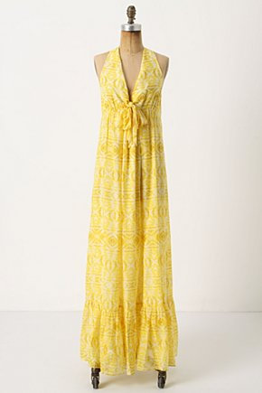 Mementos Maxi Dress - Anthropologie.com :  cotton blend mxi dress silk blend plunging neckline