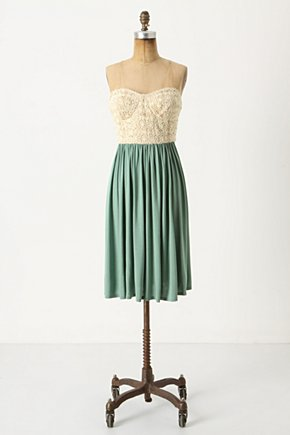 Gathering Breeze Dress - Anthropologie.com :  lace twofer jersey sage