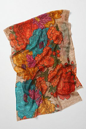 Neroli Scarf - Anthropologie.com :  wool blend scarf orange teal
