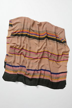 Chesil Scarf - Anthropologie.com :  fair trade striped lilac silk