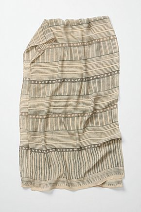 Subshrub Scarf - Anthropologie.com :  fair trade striped neutral silk