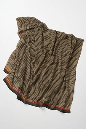 Adire Scarf - Anthropologie.com :  fair trade chain silk stripes