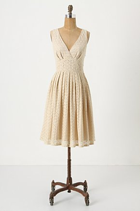 Shine Through Dress - Anthropologie.com :  eyelet sunny summer dress surplice neckline