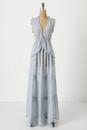 Sky Study Dress - Anthropologie.com :  maxi sky blue cotton blend silk blend