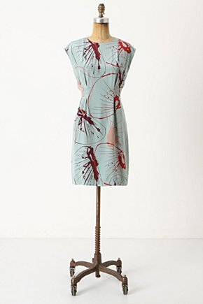 Sea Nettle Shift - Anthropologie.com :  marine inspired shift dress silk keyhole detail
