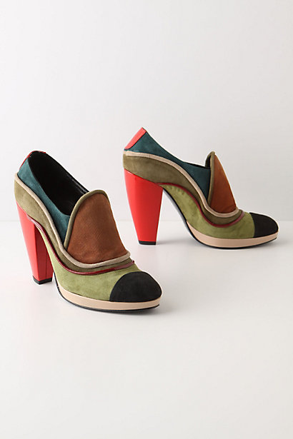 Portable Art Platforms - Anthropologie.com :  platform suede colorblock cheery