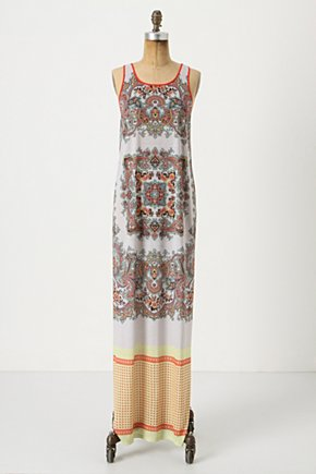 Paisley Tile Maxi Dress - Anthropologie.com