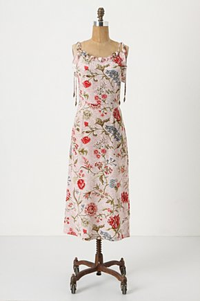 Teacup Silk Dress - Anthropologie.com :  silk red and floral asian inspired tie shoulder