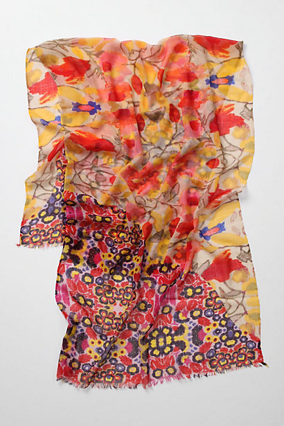 Dawn To Dusk Scarf - Anthropologie.com :  wool splashed orange scarf