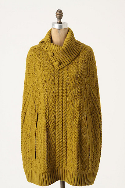 Cabled Cocoon Poncho
