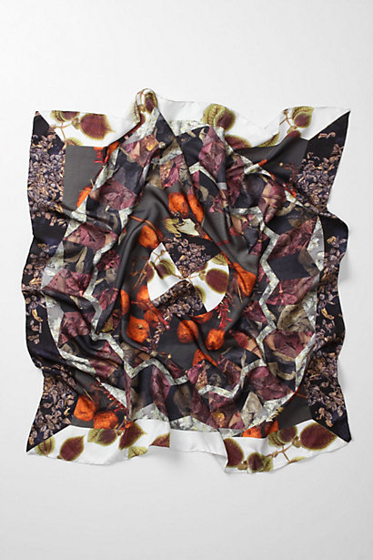 Leaf On Water Scarf - Anthropologie.com :  nature inspired silk scarf flowers