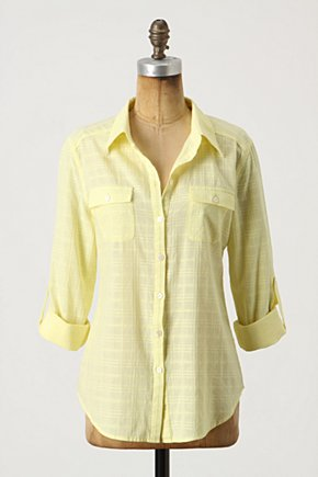 Kittery Top - Anthropologie.com :  breast pockets stitching shirt yellow