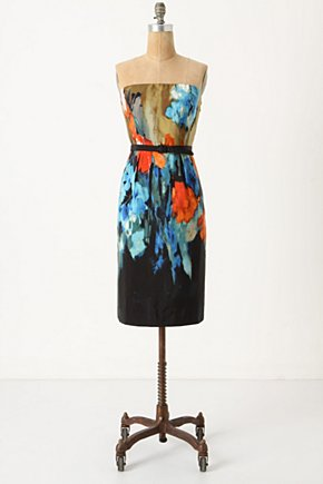 Splashed Palette Dress - Anthropologie.com :  artistic belt removable straps sheath dress
