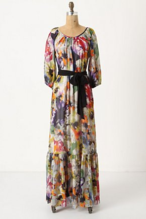Autumn Bulbs Max - Anthropologie.com :  ruffled hem three quarter sleeves cinched waist maxi