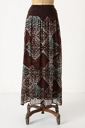 Infrared Skirt - Anthropologie.com :  aztec inspired cotton blend silk blend waistband