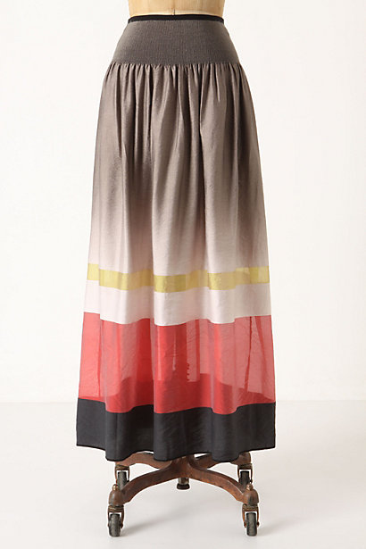 Saturated Stripes Skirt - Anthropologie.com :  colorblock banded stripes maxi skirt