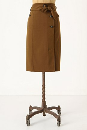 Trenchcoat Skirt - Anthropologie.com :  button front trench sash side pockets