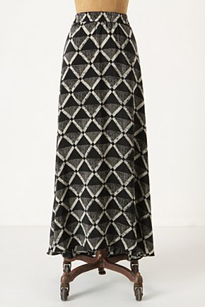 Gradated Diamonds Skirt - Anthropologie.com :  flowy silk geometric maxi skirt