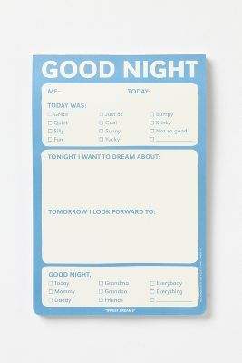 Good Night Notepad