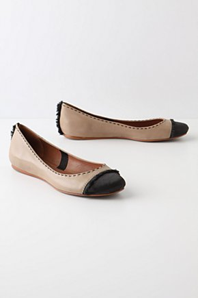 Liisa Flats - Anthropologie.com :  leather frayed ballet flats satin