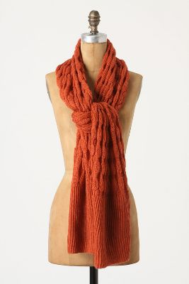 Oversized Rust-Colored Scarf - $39
