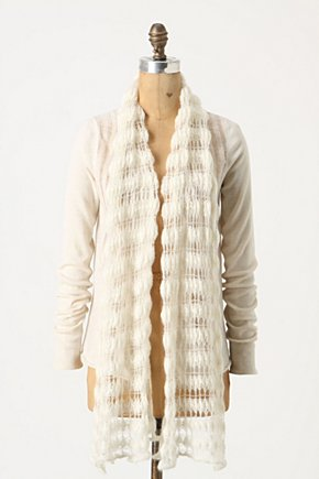 Time Signature Cardigan - Anthropologie.com :  wool open front scarf collar airy