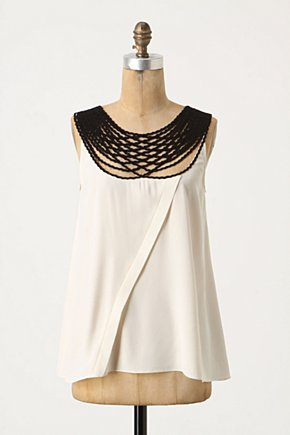 125th Street Blouse - Anthropologie.com :  blouse piping silk crepe tucked