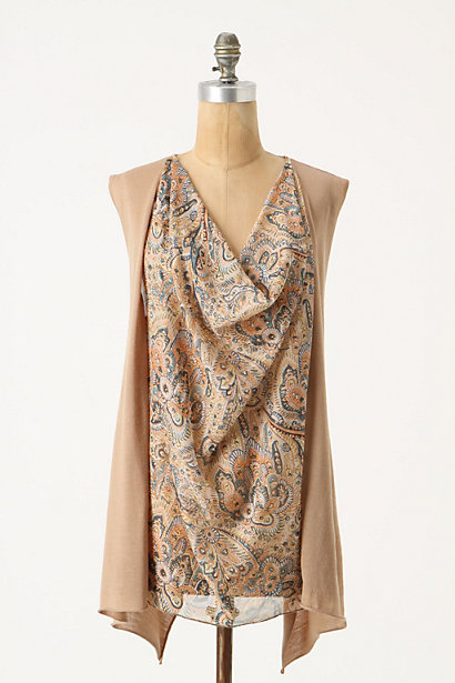 Persian Floral Pullover - Anthropologie.com :  wool shimmery sleeveless pullover