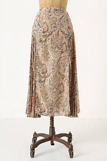 Persian Floral Midi Skirt