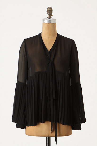 Lycia Blouse - Anthropologie.com :  blouse gauzy crepe sheer