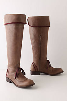 Piped Knee Boots