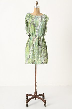 Birch Tree Dress - Anthropologie.com :  party frock nature inspired silk drawstring waist
