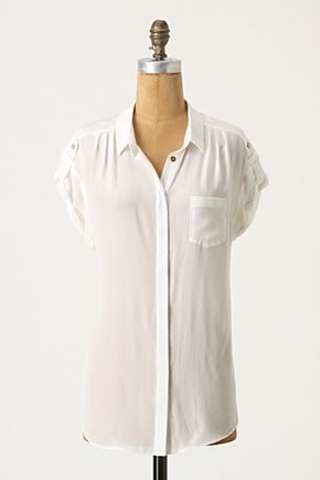 Silk Buttondown - Anthropologie.com from anthropologie.com