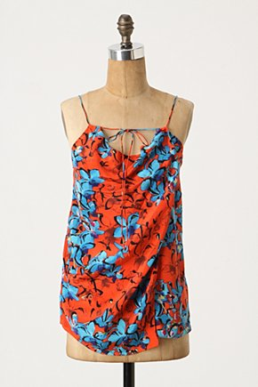 Silk Cowlneck Cami - Anthropologie.com :  camisole silk cheery crepe de chine